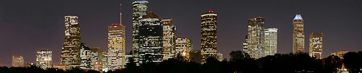 nightime houston skyline